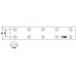 MB 207D-410D  4/77>2/96 (34x8.7x174.6mm) remontiniai