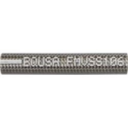 1/8 ID S/S Braided Hose (With Clear Jacket)(per Meter)